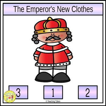 The Emperor's New Clothes Fairy Tales Count and Clip Task Cards