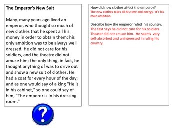 The Emperor's New Suit--A Short Story to Teach Literacy Standards