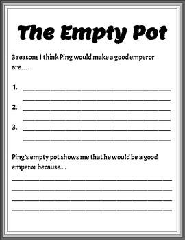 The Empty Pot Worksheet