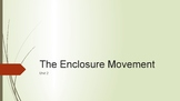 The Enclosure Movement PowerPoint and Completed Notes