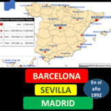 Madrid (1), Sevilla (2), and Barcelona (3) in the year 1992 - SP Intermediate 1