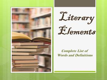 """The """"End All and Be All"""" of Literary Components!"""