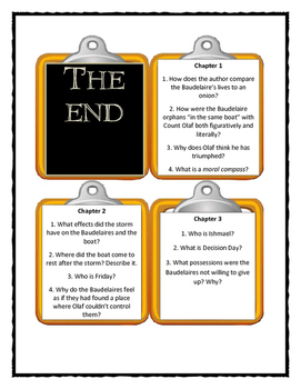 Series of Unfortunate Events THE END  - Discussion Cards