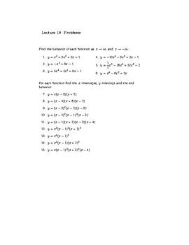 College Algebra: Lecture Notes (SECOND EDITION)—Lecture 18—Preview