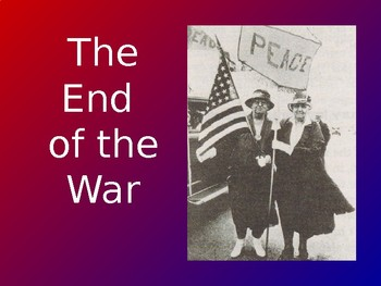 The End of WWI and Peace