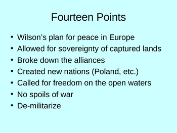 The End of World War 1 Powerpoint