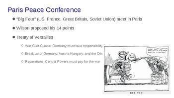 The End of World War I Presentation