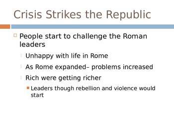 The End of the Roman Republic is Near