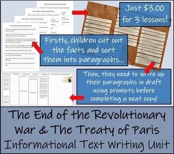 The End of the War & the Treaty of Paris - Informational Text Writing Activity