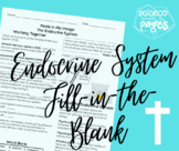 The Endocrine System Fill-in-the-Blank Notetaking Guide