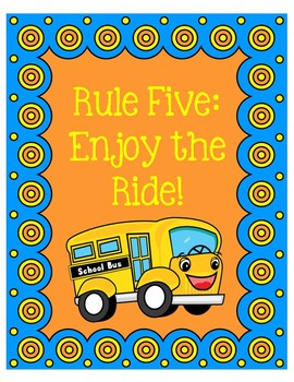 The Energy Bus Class Rules Posters Blue and Orange