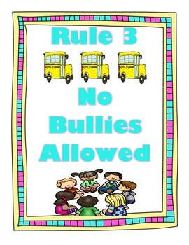 The Energy Bus For Kids Positive Class Rules Blue & Pink