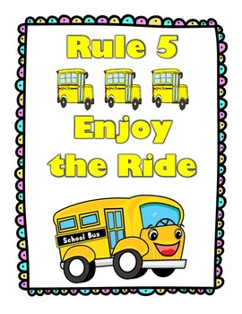 The Energy Bus For Kids Positive Class Rules Yellow & Black