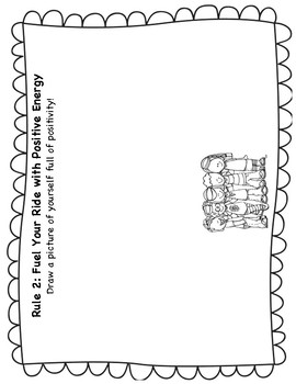 The Energy Bus for Kids Class Rules Kindergarten Worksheets Black and White
