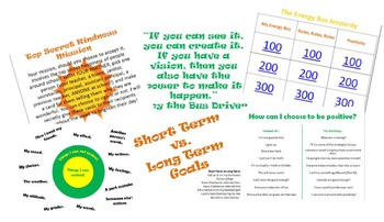 The Energy Bus for Kids by Jon Gordon classroom guidance l