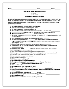 """The Engineering and Science Behind """"Time"""" : Guided Movie Questions and Notes"""
