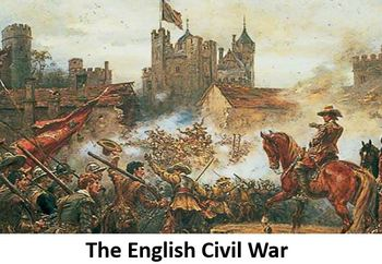 The English Civil War Power Point, Printable Student Notes, and Worksheet