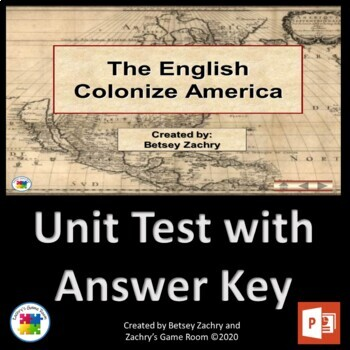 The English Colonization of America COMBO pack (PowerPoint and BINGO)