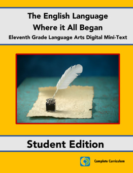 The English Language:  Where it All Began - High School La