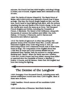 The English Longbow Factsheets