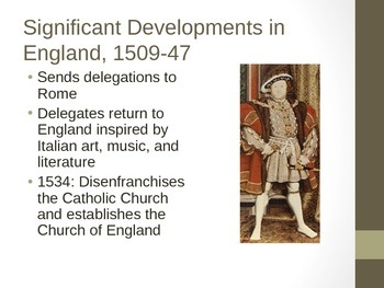 The English Renaissance PowerPoint