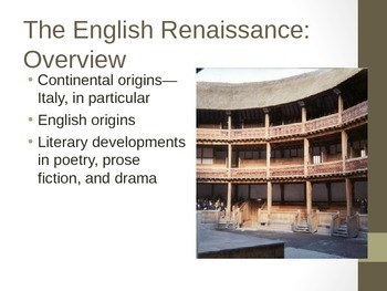 The English Renaissance PowerPoint