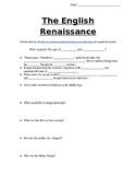 The English Renaissance Webquest