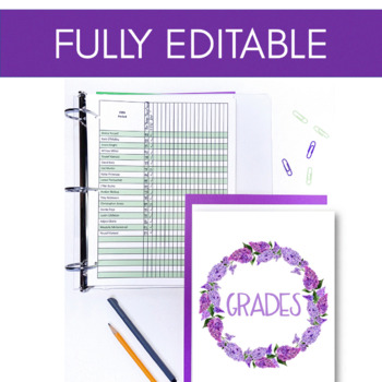 The English Teacher's Ultimate Binder {Lilac Watercolor High School EDITABLE}