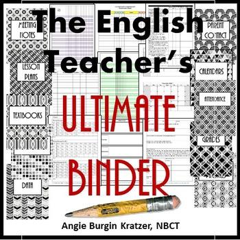 The English Teacher's Ultimate Binder {High School Art Deco Glitter}