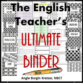 The English Teacher's Ultimate Binder {High School Art Deco Glitter}