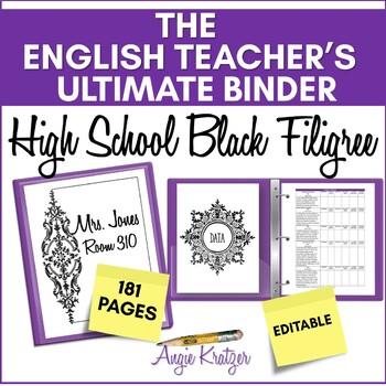 The English Teacher's Ultimate Binder {High School Black Filigree}