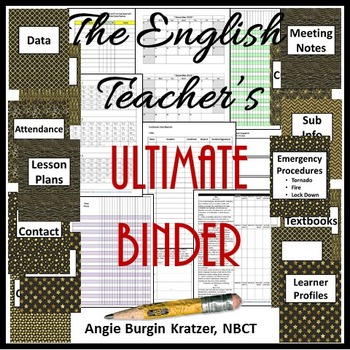 The English Teacher's Ultimate Binder {High School Black &