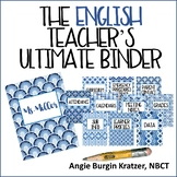 The English Teacher's Ultimate Binder {High School Blue Geometric EDITABLE}