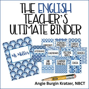 The English Teacher's Ultimate Binder {High School Blue Ge