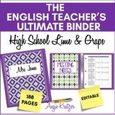 The English Teacher's Ultimate Binder { EDITABLE High Scho