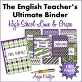 The English Teacher's Ultimate Binder {High School Lime & Grape EDITABLE}