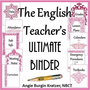 The English Teacher's Ultimate Binder {High School Pink Filigree}
