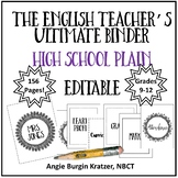 The English Teacher's Ultimate Binder {High School Plain EDITABLE}