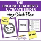 The English Teacher's Ultimate Binder {High School Plain EDITABLE}