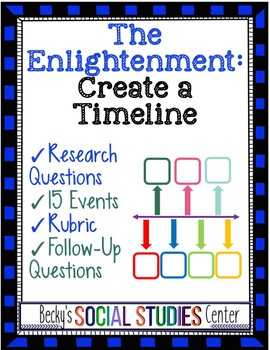 The Enlightenment Activity: Create a Timeline