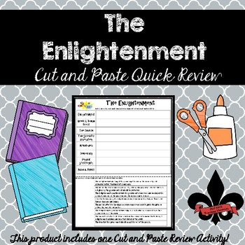 The Enlightenment Cut and Paste Review--NO PREP