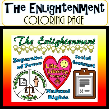 The Enlightenment SS.7.C.1.1 Coloring Page- Civics