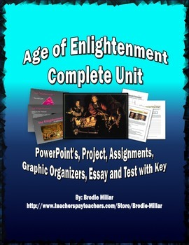 Enlightenment - Unit (PPTs, Project, Assignments, Essay, T