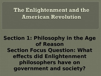 The Enlightenment and American Revolution PowerPoint with Teacher Notes