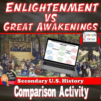 The Enlightenment and Great Awakenings Comparison Activity (Print & Digital