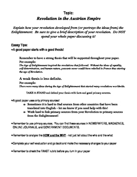 Narrative Essay Examples High School The Enlightenment And Revolution Essay Essay Thesis Statements also Learn English Essay The Enlightenment And Revolution Essay By Mrs T  Tpt Persuasive Essay Examples High School