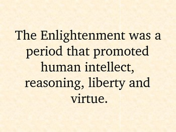 The Enlightenment & its Influence on the Declaration of Independence