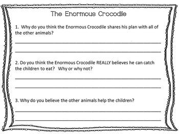 The Enormous Crocodile ~  34 pgs. Common Core Activities