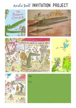 The Enormous Crocodile Invitation Project - Roald Dahl