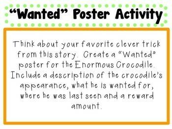 The Enormous Crocodile by Roald Dahl: A Complete Literature Study!